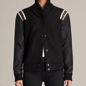 All Saints Bordin Varsity Bomber Jacket
